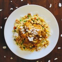 Spicy Peanut Chicken with Coconut Fried Rice