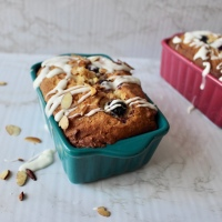 Almond Blueberry Pound Cake with Amaretto Icing
