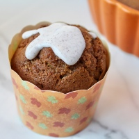 Pumpkin Muffins with Spiced Icing